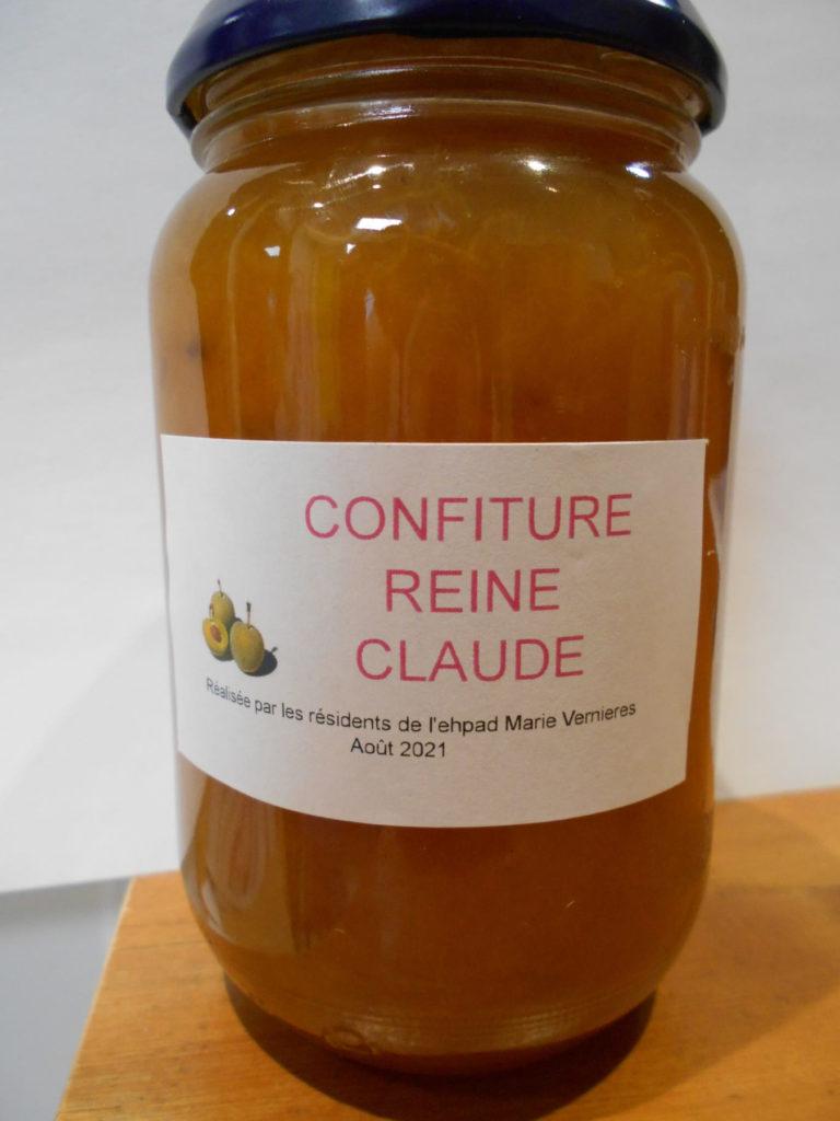 Revue -Pot de confiture Reine Claude
